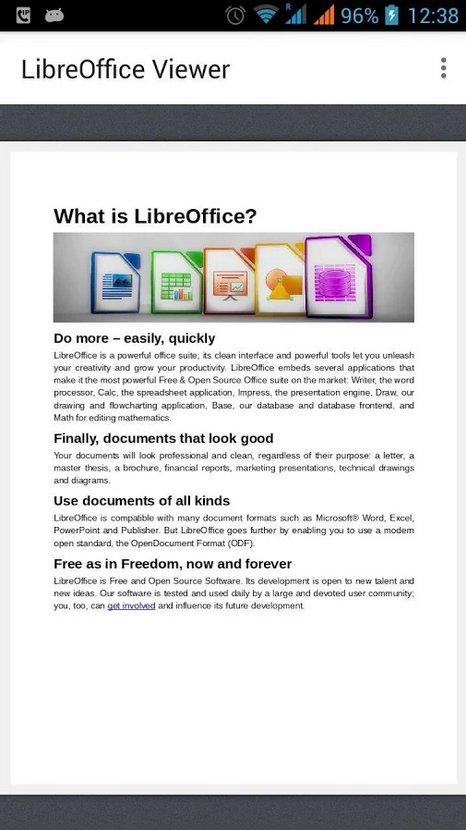 Android için LibreOffice Görüntüleyici duyuruldu